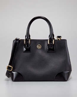 Tory Burch Robinson Square Mini Tote Bag, Black