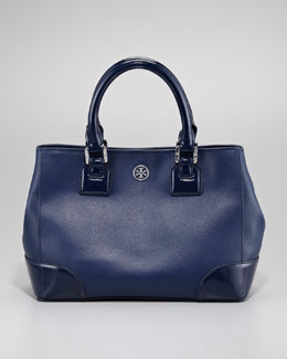 Tory Burch Robinson Mini Square Tote Bag, Navy