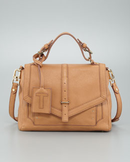 Tory Burch Medium Leather Satchel Bag, Tan