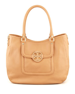 Tory Burch Classic Amanda Hobo Bag, Tan