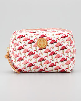Tory Burch Brigitte Flamingo Cosmetic Case