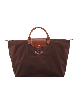 Longchamp Le Pliage Monogrammed Travel Bag