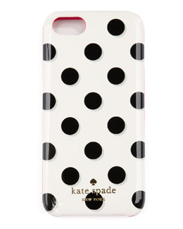 kate spade new york le pavillion polka-dot iPhone 5 case, black/white/pink