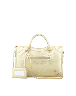 Balenciaga Classic City Bag, Gold