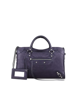 Balenciaga Giant 12 Nickel City Bag, Navy