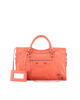 Balenciaga Classic City Bag, Coral