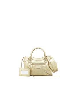 Balenciaga Classic Mini City Bag, Gold