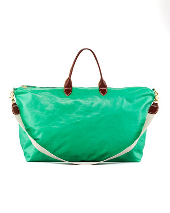Leather Weekender, Green