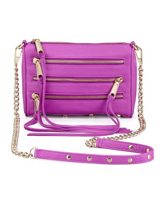 Core Mini 5-Zip Crossbody Bag, Purple