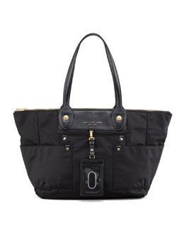 MARC by Marc Jacobs Preppy Nylon East-West Tote Bag, Black