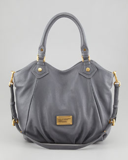 MARC by Marc Jacobs Classic Q Fran Satchel Bag, Gray