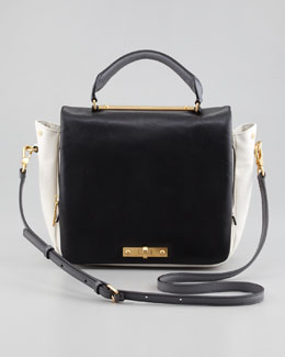 MARC by Marc Jacobs Goodbye Columbus Colorblock Satchel Bag, Black