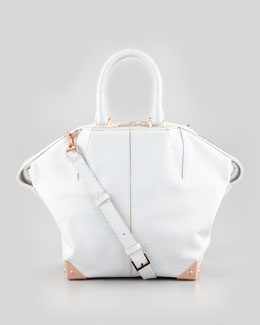 Alexander Wang Emile Small Satchel Bag, White