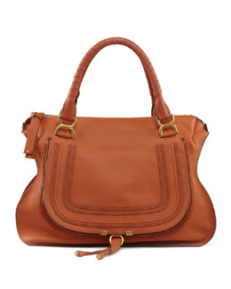 Chloe Marcie Large Shoulder Bag, Rust