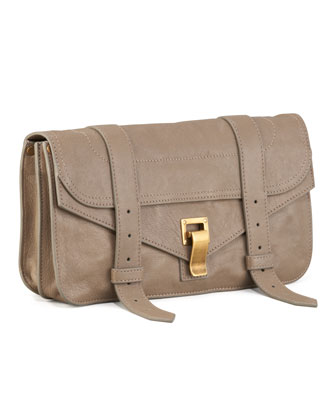 PS1 Leather Pochette, Smoke