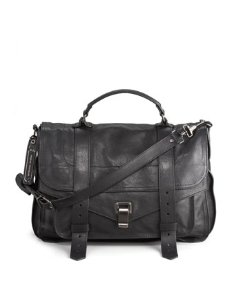 PS1 Large Satchel Bag, Black