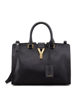 Saint Laurent Y Ligne Cuir Gras Mini Bag, Black