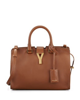 Saint Laurent Y Ligne Cuir Gras Mini Bag, Brown