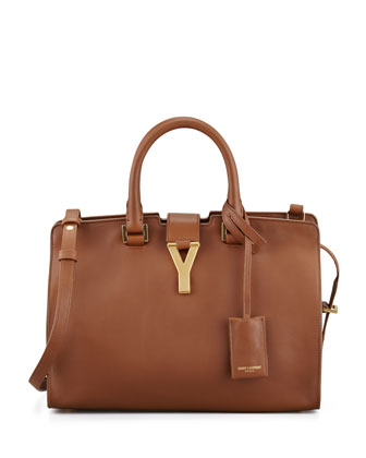 Y Ligne Cuir Gras Mini Bag, Brown