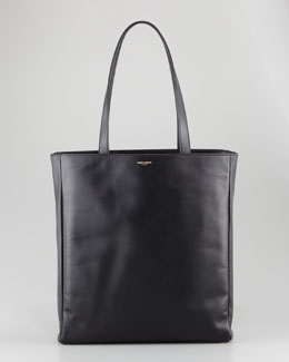 Saint Laurent Bo Museum Shoulder Tote Bag, Black