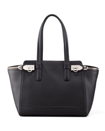 Verve Double-Zip Tote Bag, Black