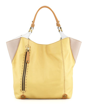 Aquarius Leather Shopper Bag, Multi