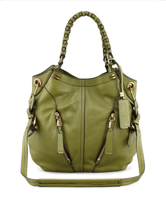 Gwen Large Shoulder Bag, Green