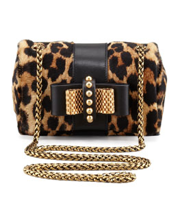 Christian Louboutin Sweet Charity Leopard-Print Calf Hair Crossbody Bag