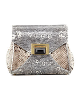 Kara Ross Itty Bitty Trinity Shoulder Bag, Gray/White/Black