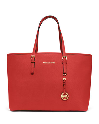 Medium Jet Set Multifunction Saffiano Tote