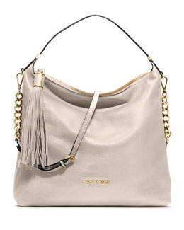 MICHAEL Michael Kors  Large Bedford Tassle Pebbled Shoulder Bag