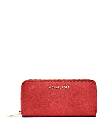 Jet Set Saffiano Continental Wallet