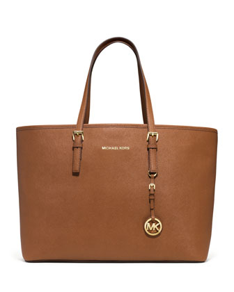 Medium Jet Set Saffiano Travel Tote