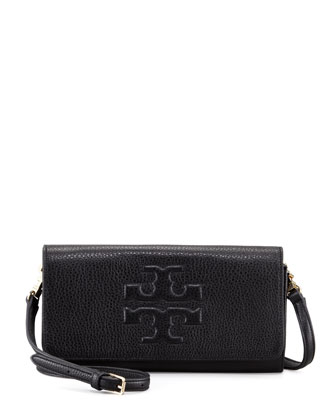 Thea Bombe Crossbody Clutch Bag, Black