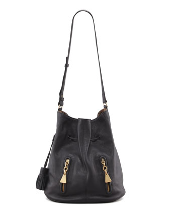 Cherry Bucket-Style Bag, Black