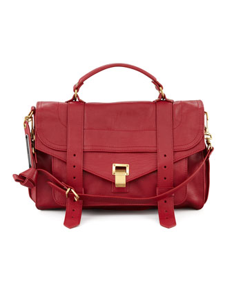 PS1 Medium Satchel Bag, Red