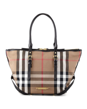 Bridle House Check Tote Bag, Small