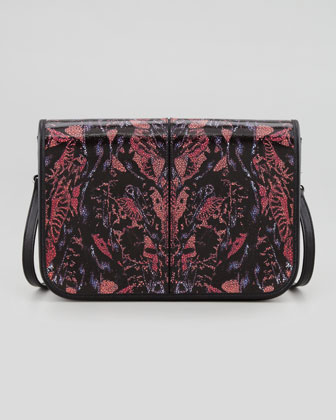 Bug-Print Leather Crossbody Bag
