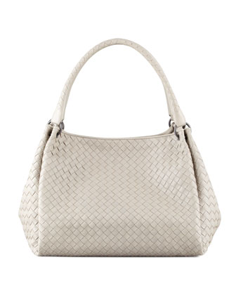 Parachute Intrecciato Medium Tote Bag, Gray
