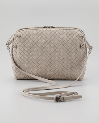 Veneta Small Crossbody Bag, Gray