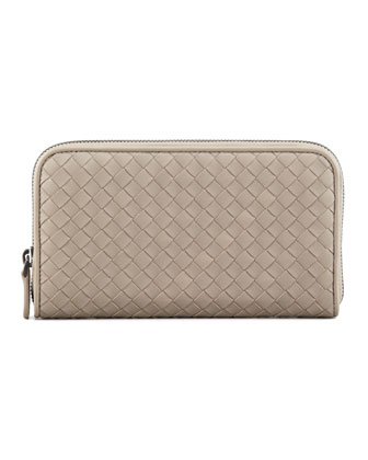 Continental Zip-Around Wallet, Gray