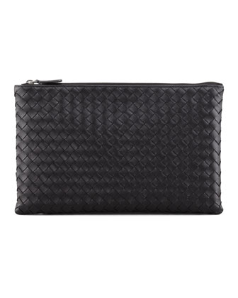 Extra Large Flat Cosmetics Bag, Black
