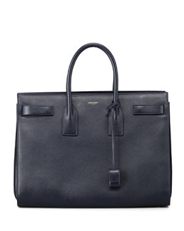 Saint Laurent Sac du Jour Large Carryall Bag, Dark Blue