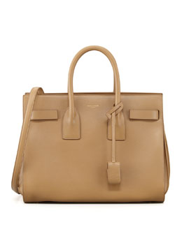 Saint Laurent Sac du Jour Small Carryall Bag, Beige