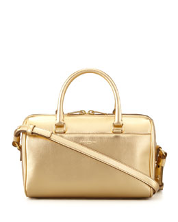 Saint Laurent Classic Metallic Duffel 3 Bag, Gold