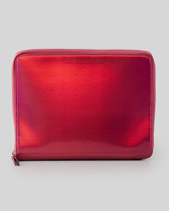 Techno Tablet Zip Case, Red/Pink