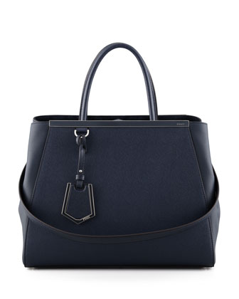 2Jours Medium Tote Bag, Dark Navy