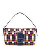 Multicolor Mosaic Baguette Bag