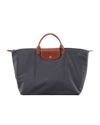 Le Pliage Monogram Large Travel Tote Bag, Gray