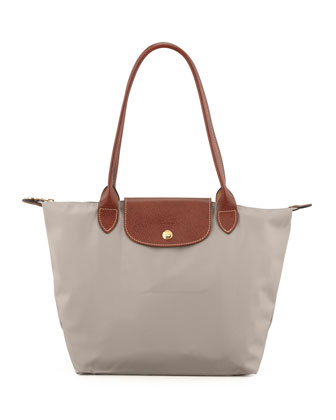 Le Pliage Small Shoulder Tote Bag, Gray